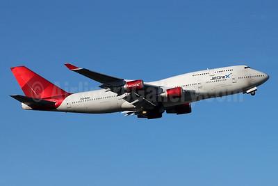 JetOneX - Longtail Aviation Boeing 747-41R (F) VQ-BZV (msn 29406) (Virgin Atlantic colors) ANC (Michael B. Ing). Image: 955410.