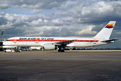 Sun d'Or International Airlines Boeing 757-27B 4X-EBY (msn 24137) (Martinair colors) (Jacques Guillem Collection). Image: 928730.