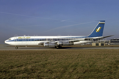 Sun d'Or International Airlines Boeing 707-358B 4X-ATR (msn 19004) (El Al colors) ORY (Jacques Guillem). Image: 949585.