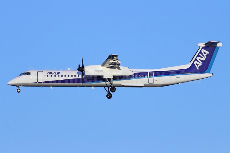 ANA (All Nippon Airways)-ANA Wings Bombardier DHC-8-402 (Q400) JA842A (msn 4082) NRT (Michael B. Ing). Image: 920164.