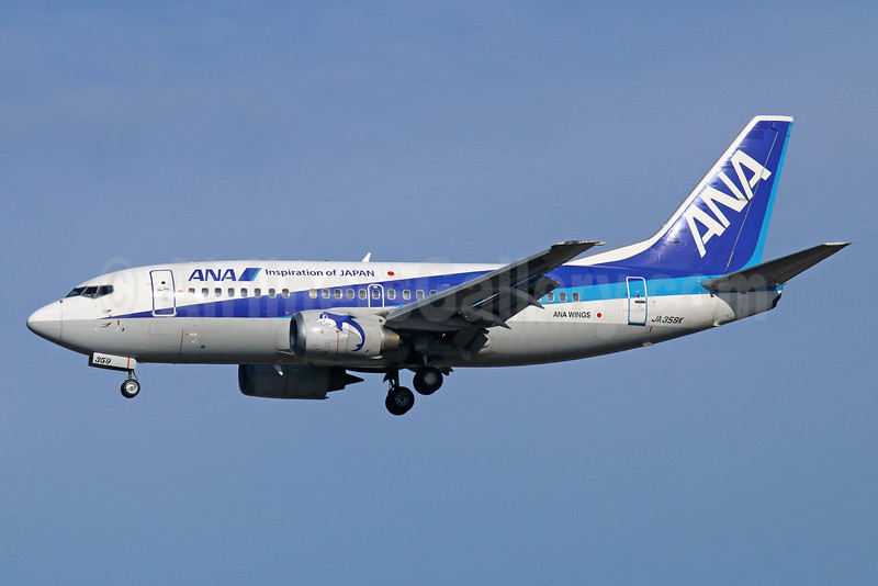 ANA (All Nippon Airways)-ANA Wings Boeing 737-5L9 JA359K (msn 28128) (Inspiration of Japan) NRT (Michael B. Ing). Image: 929302.