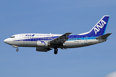 ANA (All Nippon Airways)-ANA Wings Boeing 737-54K JA8595 (msn 28461) (Inspiration of Japan) NRT (Michael B. Ing). Image: 934242.