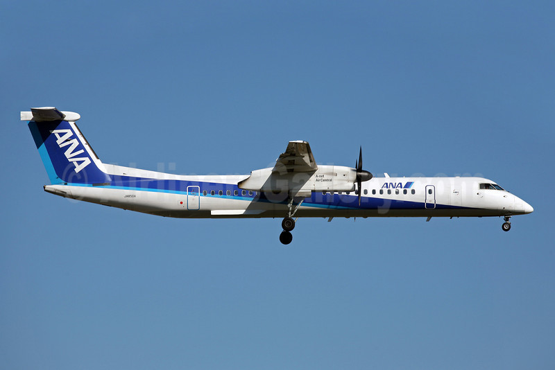 ANA (All Nippon Airways)-Air Central Bombardier DHC-8-402 (Q400) JA850A (msn 4108) FUK (John Adlard). Image: 902428.