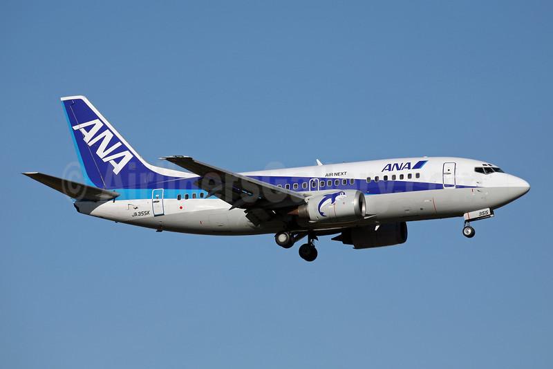 ANA (All Nippon Airways)-Air Next Boeing 737-5L9 JA355K (msn 28129) FUK (John Adlard). Image: 902317.
