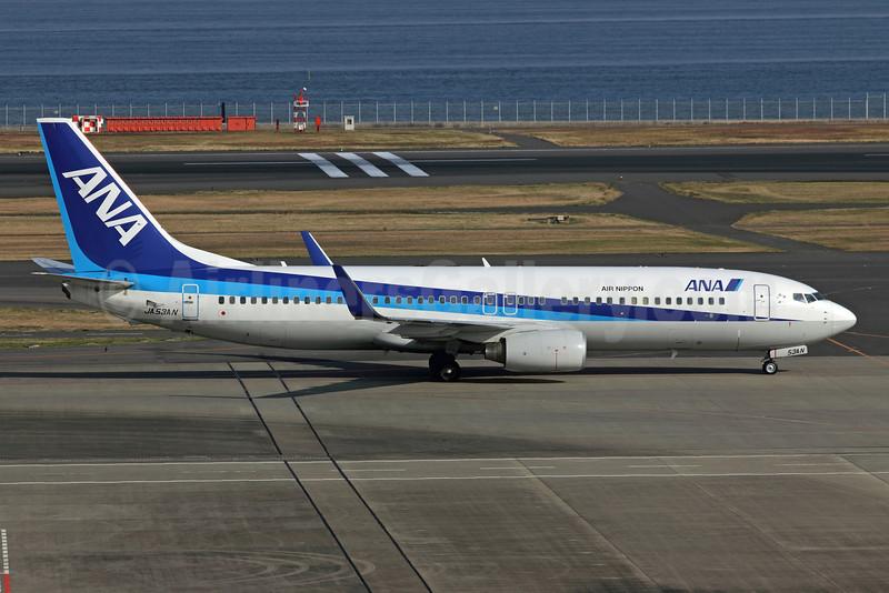 ANA (All Nippon Airways) (Air Nippon) Boeing 737-881 WL JA53AN (msn 33891) HND (Michael B. Ing). Image: 922702.