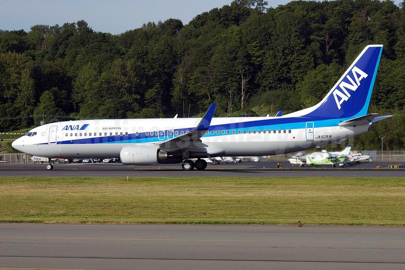 ANA (All Nippon Airways) (Air Nippon) Boeing 737-881 WL JA52AN (msn 33887) BFI (Joe G. Walker). Image: 900095.