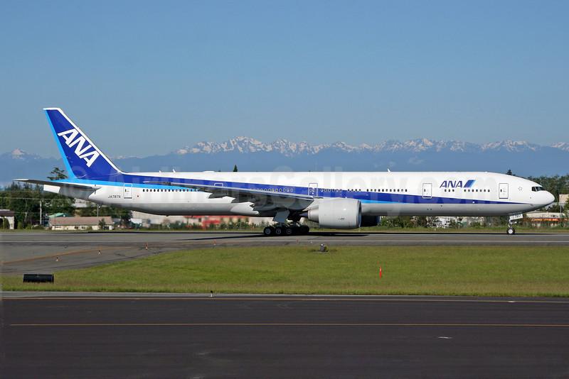 ANA (All Nippon Airways) Boeing 777-381 ER JA787A (msn 37949) PAE (Nick Dean). Image: 905095.