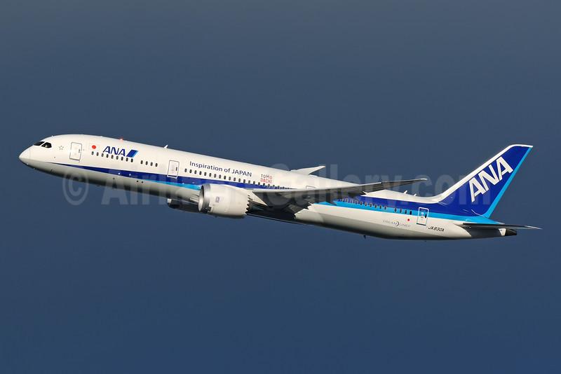 ANA (All Nippon Airways) Boeing 787-9 Dreamliner JA830A (msn 34522) (Inspiration of Japan - Tomo Dachi) ITM (Akira Uekawa). Image: 925940.