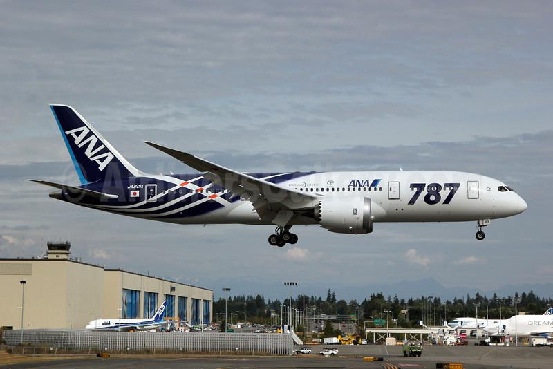 ANA (All Nippon Airways) Boeing 787-8 Dreamliner JA801A (msn 34488) (Dreamliner special colors) PAE (Nick Dean). Image: 907105.