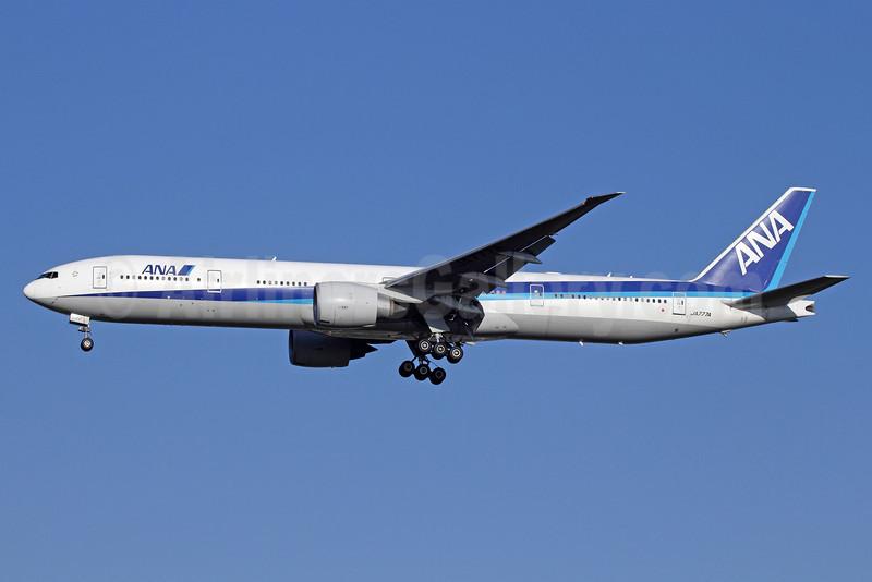 ANA (All Nippon Airways) Boeing 777-381 ER JA777A (msn 32650) NRT (Michael B. Ing). Image: 912569.