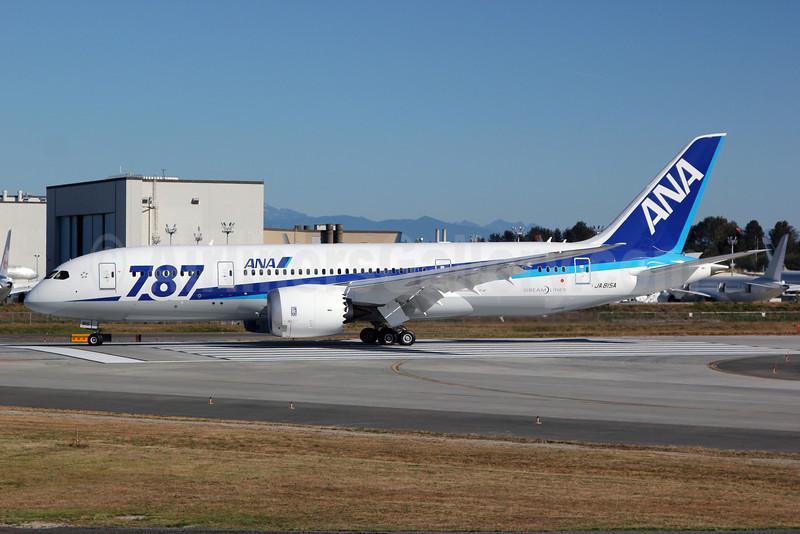 ANA (All Nippon Airways) Boeing 787-8 Dreamliner JA815A (msn 40899) PAE (Nick Dean). Image: 909299.