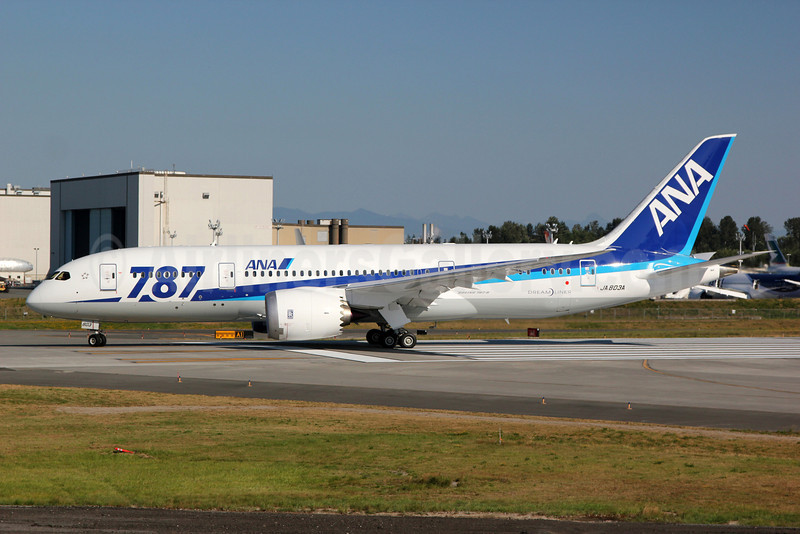 ANA (All Nippon Airways) Boeing 787-8 Dreamliner JA803A (msn 34485) PAE (Nick Dean). Image: 909161.
