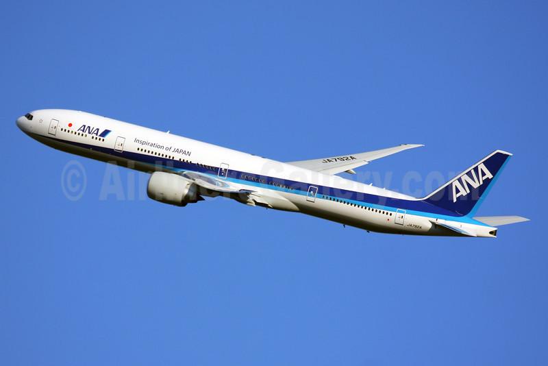 ANA (All Nippon Airways) Boeing 777-381 ER JA792A (msn 60381) (Inspiration of Japan) LHR (SPA). Image: 928031.