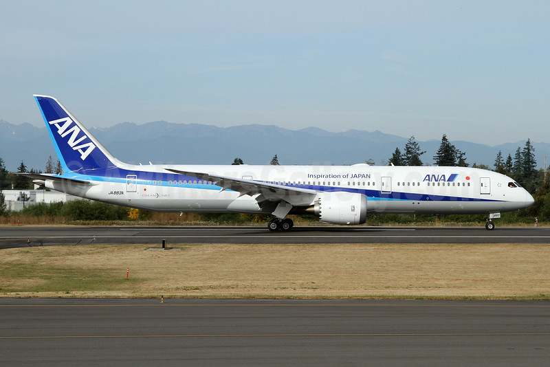 ANA (All Nippon Airways) Boeing 787-9 Dreamliner JA883A (msn 43873) (Inspiration of Japan) PAE (Nick Dean). Image: 934554.