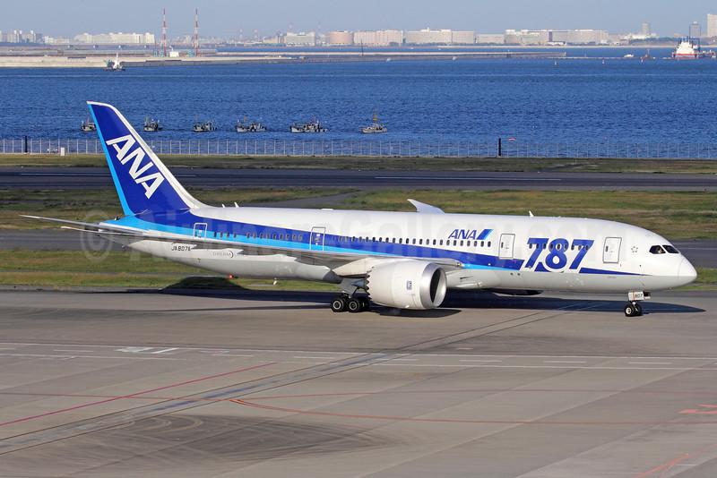 "ANA (All Nippon Airways) Boeing 787-8 Dreamliner JA807A (msn 34508) ""787"" HND (Michael B. Ing). Image: 909661."