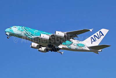 "ANA's second A380, in ""Hawaiian Ocean - Emerald Green"" livery"