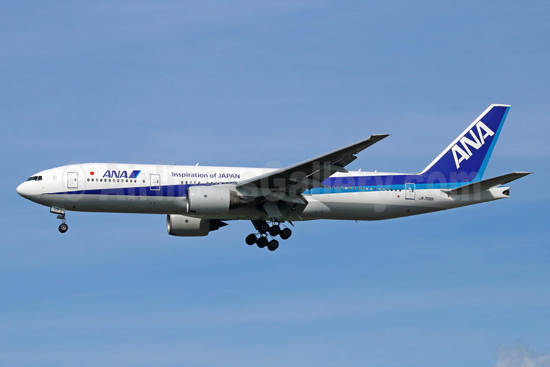 ANA (All Nippon Airways) Boeing 777-281 ER JA708A (msn 28277) (Inspiration of Japan) NRT (Michael B. Ing). Image: 934586.
