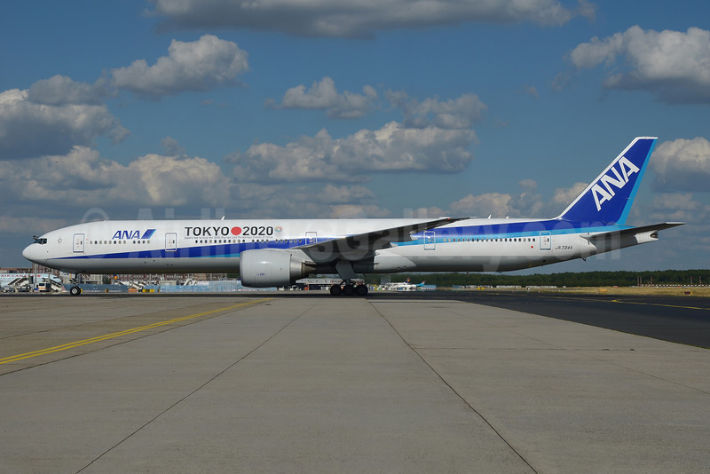 ANA (All Nippon Airways) Boeing 777-381 ER JA734A (msn 32649) (Tokyo 2020 - Japan's bid to host the 2020 Olympic and Paralympic Games in Tokyo) FRA (Bernhard Ross). Image: 913316.