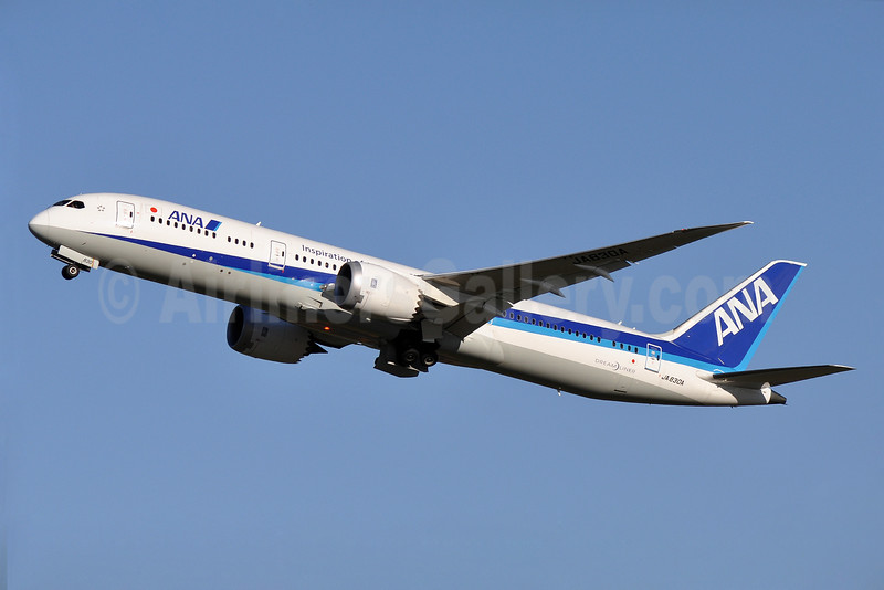ANA (All Nippon Airways) Boeing 787-9 Dreamliner JA830A (msn 34522) (Inspiration of Japan) CTS (Robbie Shaw). Image: 933462.