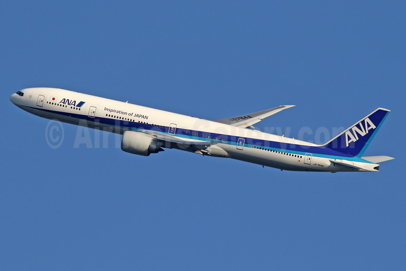 ANA (All Nippon Airways) Boeing 777-381 ER JA784A (msn 37950) (Inspiration of Japan) LHR (SPA). Image: 928011.
