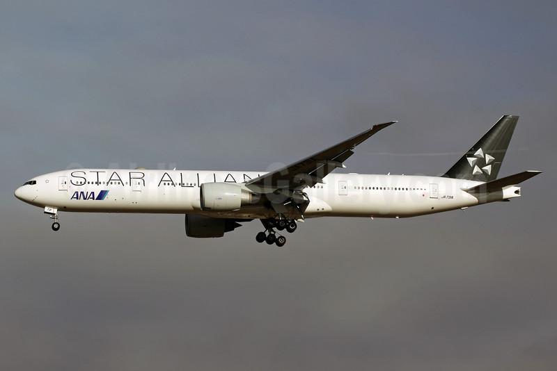 ANA (All Nippon Airways) Boeing 777-381 ER JA731A (msn 28281) (Star Alliance - 15 Years) NRT (Michael B. Ing). Image: 904966.