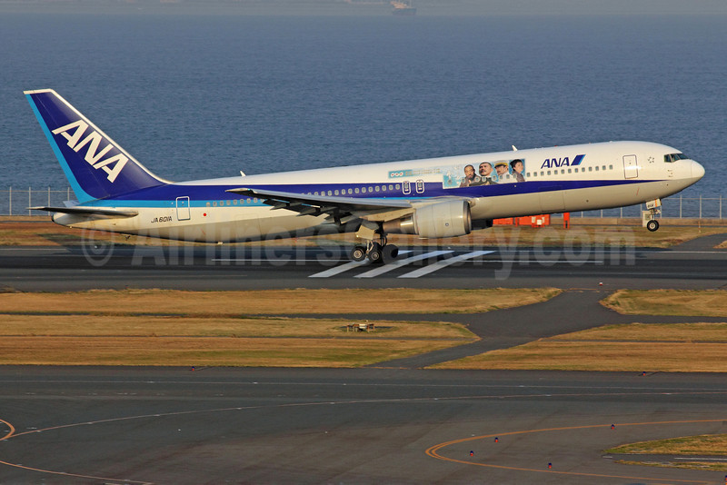 ANA (All Nippon Airways) Boeing 767-381 JA601A (msn 27943) (NHK Cloud over the Hill) HND (Michael B. Ing). Image: 907601.
