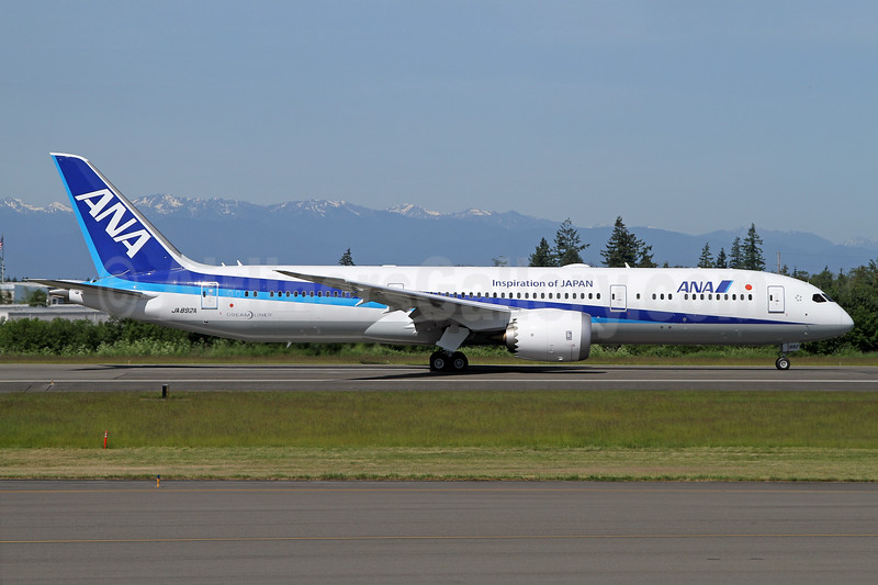ANA (All Nippon Airways) Boeing 787-9 Dreamliner JA892A (msn 34513) (Inspiration of Japan) PAE (Nick Dean). Image: 938090.