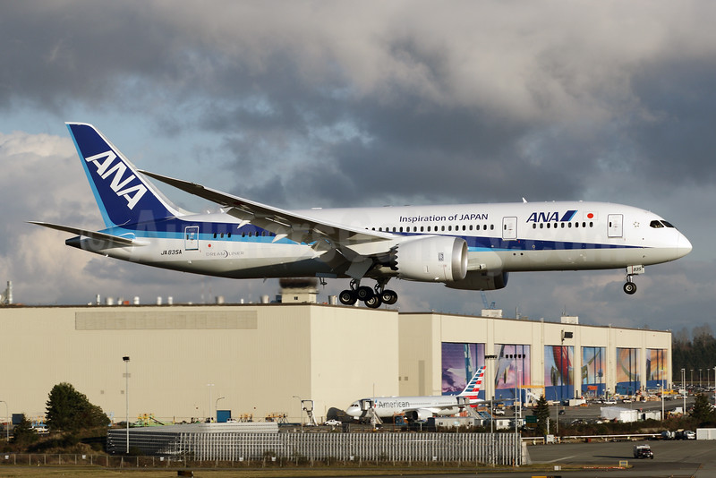 ANA (All Nippon Airways) Boeing 787-8 Dreamliner JA835A (msn 34525) (Inspiration of Japan) PAE (Brandon Farris). Image: 925473.