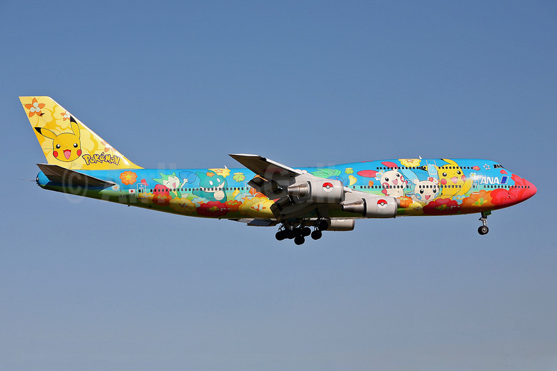 ANA (All Nippon Airways) Boeing 747-481 JA8956 (msn 25640) (Pokemon-Pocket Monsters) FUK (John Adlard). Image: 902009.