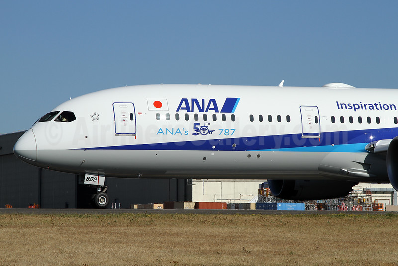Boeing delivers the 50th 787 to ANA