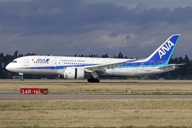 ANA (All Nippon Airways) Boeing 787-8 Dreamliner JA827A (msn 34509) (Inspiration of Japan) SEA (Michael B. Ing). Image: 929297.