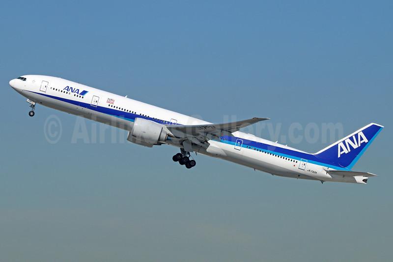 ANA (All Nippon Airways) Boeing 777-381 ER JA732A (msn 27038) (Tomo Dachi - Friend) LAX (Michael B. Ing). Image: 920992.