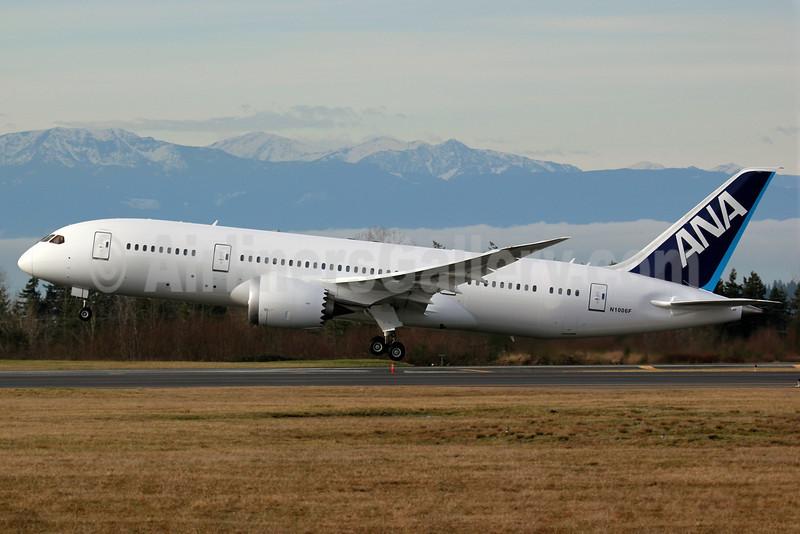 ANA (All Nippon Airways) Boeing 787-8 Dreamliner N1006F (JA803A) (msn 34486) (ZA102) PAE (Nick Dean). Image: 905962.