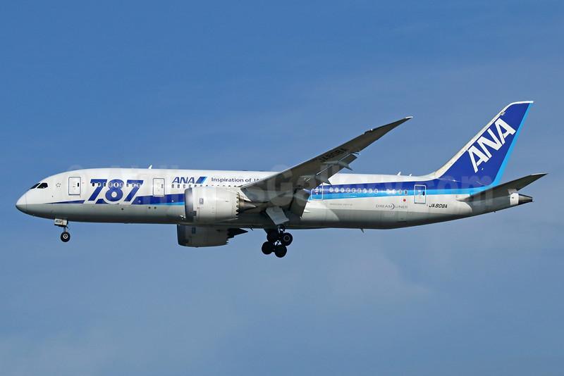 ANA (All Nippon Airways) Boeing 787-8 Dreamliner JA808A (msn 34490) (787 - Inspiration of Japan) NRT (Michael B. Ing). Image: 924845.