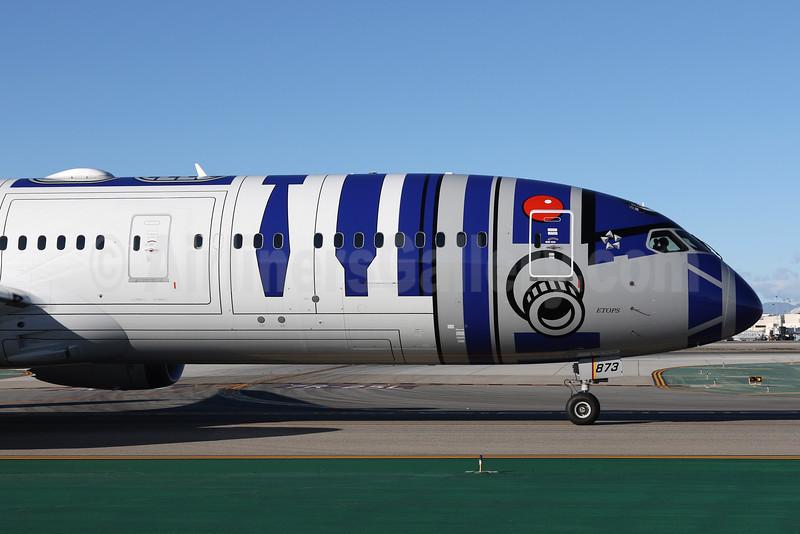 ANA (All Nippon Airways) Boeing 787-9 Dreamliner JA873A (msn 34530) LAX (James Helbock). Image: 932171.