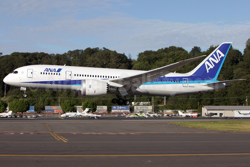 ANA (All Nippon Airways) Boeing 787-8 Dreamliner N787EX (msn 40691) BFI (Gabor Hajdufi). Image: 905230.