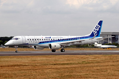 From Farnborough - MRJ-90 in ANA colors