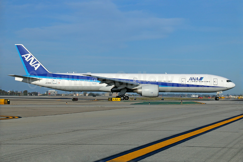 ANA (All Nippon Airways) Boeing 777-381 ER JA782A (msn 33416) LAX. Image: 923427.