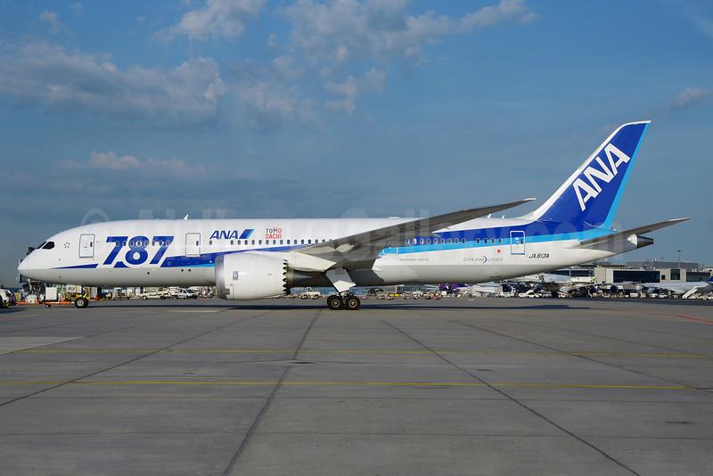 "ANA (All Nippon Airways) Boeing 787-8 Dreamliner JA813A (msn 34521) ""787"" ""Tomo Dachi"" FRA (Bernhard Ross). Image: 912591."