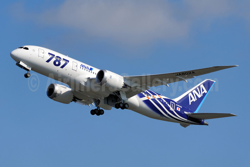 ANA (All Nippon Airways) Boeing 787-8 Dreamliner JA802A (msn 34497) (Dreamliner special colors) NRT (Akira Uekawa). Image: 907538.