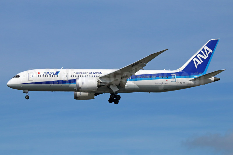 ANA (All Nippon Airways) Boeing 787-8 Dreamliner JA834A (msn 40750) (Inspiration of Japan) NRT (Michael B. Ing). Image: 934587.