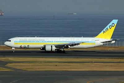 Air Do-Hokkaido International Airlines Boeing 767-33A ER JA01HD (msn 28159) HND (Michael B. Ing). Image: 909651.