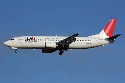 JAL-JAL Express Boeing 737-446 JA8999 (msn 29864) NRT (Michael B. Ing). Image: 905232.