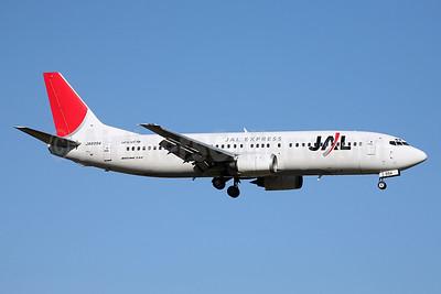 JAL-JAL Express Boeing 737-446 JA8994 (msn 28097) FUK (John Adlard). Image: 902128.