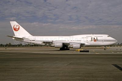 JAL-Japan Airlines Boeing 747-446 JA8081 (msn 25064) LAX (Bruce Drum). Image: 104841.