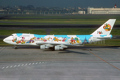 "JAL's 1994 ""Disney on Tour - Dream Express"" logo jet"