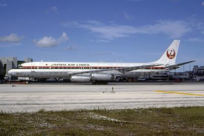 JAL-Japan Air Lines McDonnell Douglas DC-8-62 JA8037 (msn 46024) MIA (Bruce Drum). Image: 105136.
