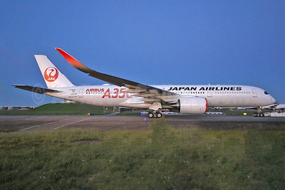 JAL's first Airbus A350, became JA01XJ