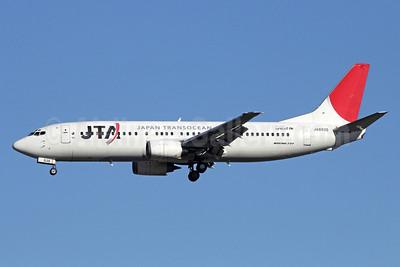 JTA-Japan Transocean Air Boeing 737-4Q3 JA8938 (msn 29485) NRT (Michael B. Ing). Image: 910842.