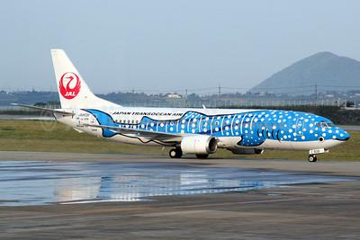 Japan Transocean Air-JAL Boeing 737-4Q3 JA8939 (msn 29486) (Jimbei Jet - Whale Shark) ISG (Shige Sakaki). Image: